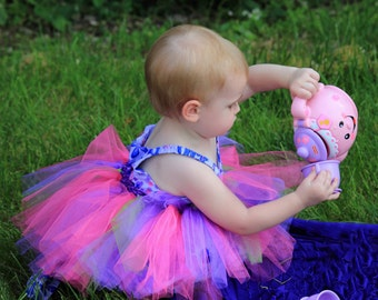Multicolor tutu with elastic waist band available in any size, toddler tutu, pageant tutu, teen tutu skirt