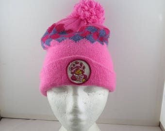 Vintage Strawberry Shortcake Beanie /Toque - Patched Front - 1983 Adult One Szie