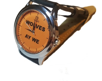 Wolves ay we design wristwatch.