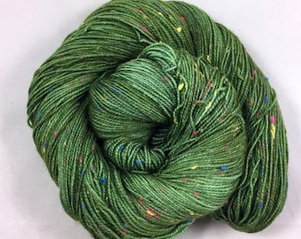hand dyed sock yarn, Donegal Sock DRAGON, superwash merino wool and NEP, fingering weight yarn