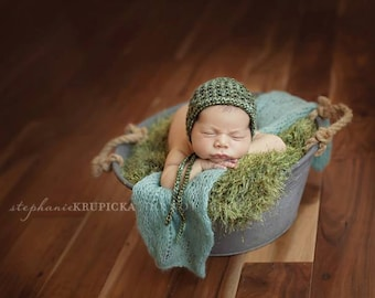 Pure Naturals Newborn Stretch Knit Wrap in Ocean Fall Teal