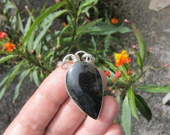 obsidian necklace obsidian pendant gemstone jewelry