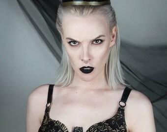Dark queen latex crown