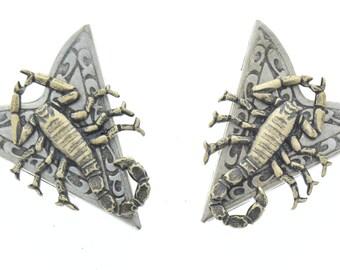 Collar Tip , Western Collar Tip, scorpion   , 1 pair , CT-02563