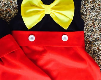 Mickey Mouse dress girls toddlers Minnie Mouse mickey smash cake birthday dress fun mickey dress cute dress happy mickey dress mickey glam