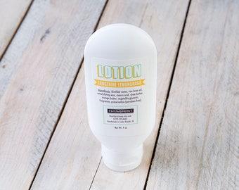 Tangerine Lemongrass Lotion | 4 oz Lotion | Stocking Stuffer Lotion | Handmade Lotion | Thick Lotion | Lotion
