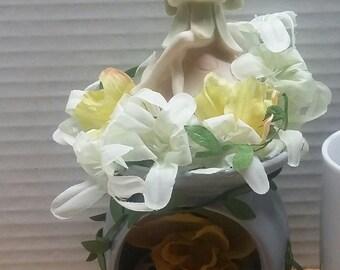 Fairy in flowers
