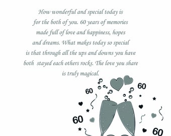 God Mother & Husband Diamond Anniversary Card