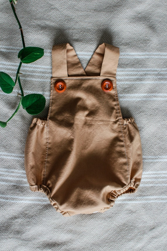 Brown Sugar Bubble Romper, Gender Neutral Romper, Baby Girl Romper, Baby Boy Romper, Vintage Inspired Romper, Retro Baby Romper, Baby Playsu