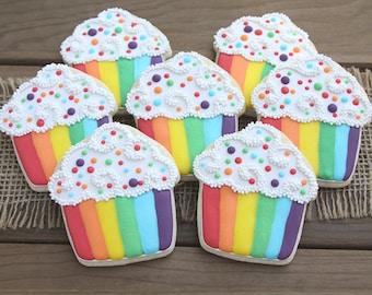 Rainbow Party / Rainbow Cupcakes / Rainbow Sugar Cookies / Rainbow Favors / Rainbow First Birthday / Rainbow Baby / Gay Pride / Gay Wedding