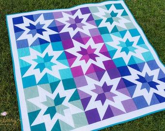Aurora Borealis Quilt Pattern PDF