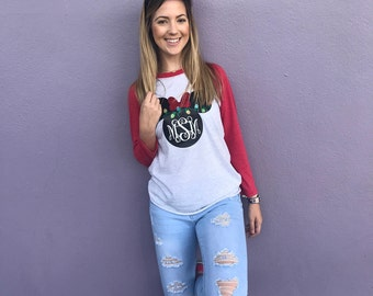 Disney Family Vacation Shirt | Disney Christmas Shirt | Vacation Shirt | Unisex Shirt | Minnie Ears | Christmas Lights