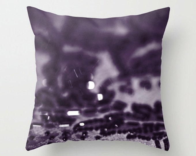 Purple Sparkle Abstraction Sofa Pillow, Aubergine Accent Pillow, Purple Throw Pillow Cover, 18x18 22x22 Decorative Pillow Cushion