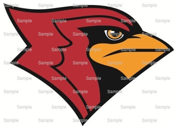 Cardinals Mascot Birthday - Edible Cake and Cupcake Topper For Birthday's and Parties! - D924