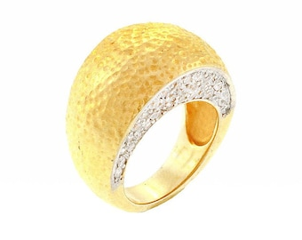 Sterling Silver Plated CZ Encrusted Ring