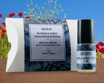 Moxie, Organic Botanical Perfume Oil, 100% Natural with Essential Oils and Flower Essences
