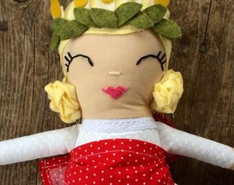 Saint Lucy / Saint Lucia / Handmade Doll / Heirloom doll / Saint Doll