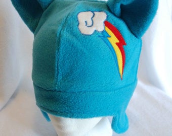 Rainbow Dash My Little Pony Fleece Hat / MLP:FIM / MLP / My Little Pony Friendship is Magic / Rainbow Dash / Hat / Costume / Cosplay