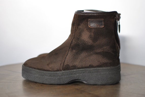 Vintage HUSH ankle 086 LAMBSKIN PUPPIES boots rTPSqrpFW