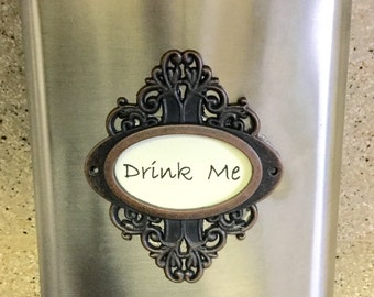 Stainless Drink Me  gift party eight ounce alcohol drinking flask