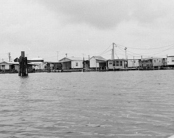 "8""x10"" Leeville, Louisiana Trailer Parks and Camps black and white photograph"