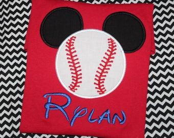 Mickey baseball tshirt- Disney trip- Disney World