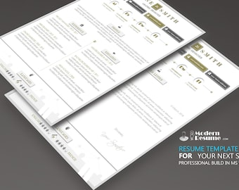 Resume Template Modern 1 Page