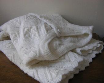Vintage Snow White Cardigan Sweater