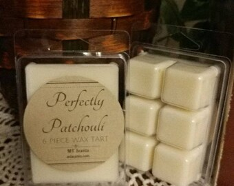 Patchouli Soy Wax, Highly Scented Wax Melts, Hippie, Intoxicating Aromatherapy, Earthy woodsy scent, made to order, hand poured, clamshell