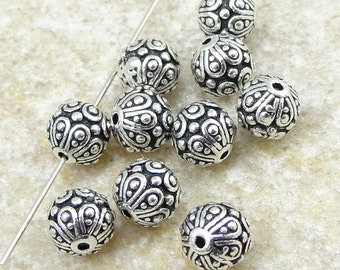 TierraCast CASBAH BEADS - Antique Silver Beads - Bali Style Metal Beads by Tierra Cast (P13)