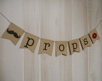 Props Banner . Photo Booth . Banner . Birthdays . Graduations . Weddings . Parties . Celebrations . Customized . Custom Color Choice