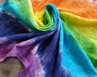 Rainbow muslin square
