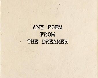 Poem From The Dreamer (Read Description for details)