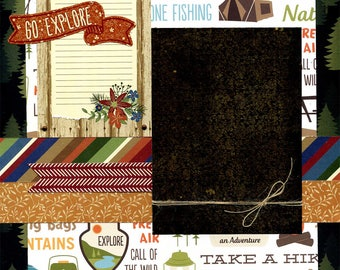 Today Go Explore - Premade Scrapbook Page