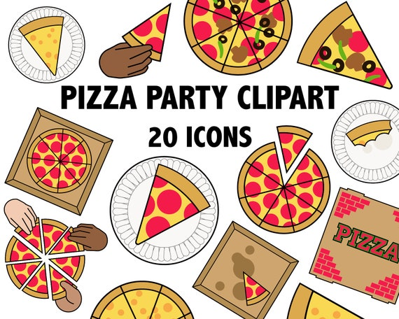 pizza party clipart pizza clipart food clipart italian rh etsy com clipart pizza party clipart pizza party