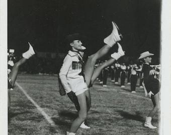 Vintage Snapshot Photo: Cheerleading Squad [84662]