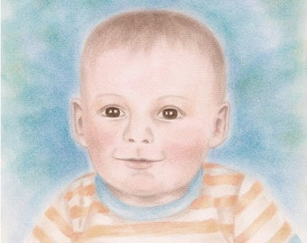 "Precious Spirit, beautiful 8x10"" Giclee print, child, little boy"