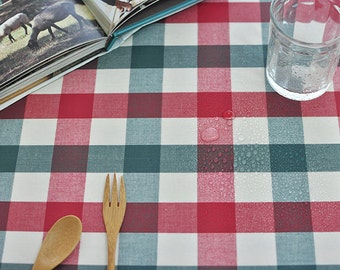 Laminated Cotton Fabric - Holiday Plaid - By the Yard 84664