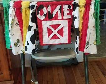 Farm First Birthday Banner
