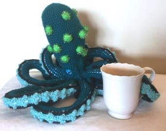 Crochet Teal Octopus