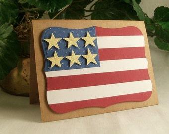 Handmade patriotic card