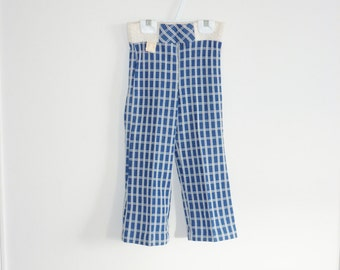 Vintage Navy Plaid Pants