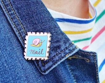 Snail Mail Hard Enamel Pin