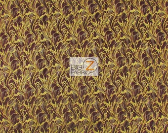 """100% Cotton Fabric By Punch Studio For Hoffman California - Explorer Brown - 45"""" Width Sold By The Yard (FH-1450)"""