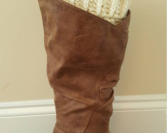 Boot Cuffs / Crochet Boot Cuffs / Boot Socks / Women's Boot Cuffs / Leg Warmers / Winter Accessory / Christmas Gift