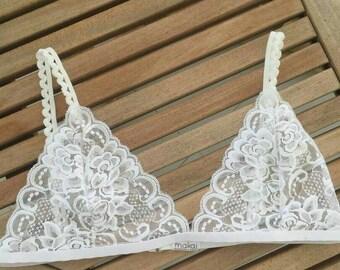 Beautiful Lace / Bralette floral Lace Bra lacy bralette / sheer bralette