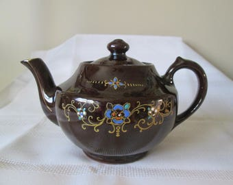 Vintage Small Made in Japan Brown Glaze Tea Pot, Tea Pot Collectors, Kitchen Decor, Serving Item, Tea Time