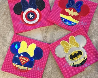 Set of 4 Super Minie Appliques 4x4 5x7 and 6x10 hoop instant download