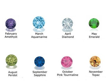 BIRTHSTONES Birthstone Colored Faceted Glass Beads For Floating Charm Locket Necklace 4mm