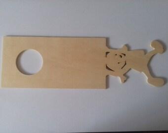Wooden door plaque natural girl